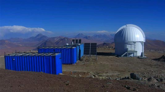 the 1m telescope at the atacama observatory has started